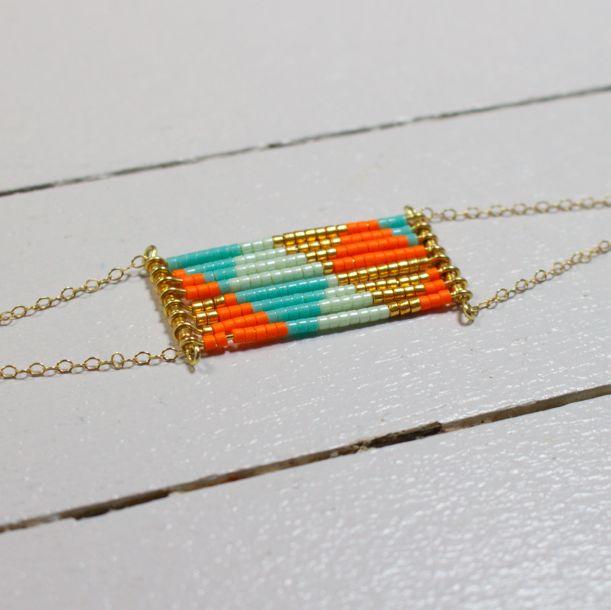 Bracelet Divine / mandarine via Cocoroca. Click on the image to see more!