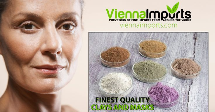 The Finest Cosmetic Clay Powders For Sale! Rhassoul, Bentonite, Kaolin, French, Australian, Sea, Rose, and more! Visit Our Website At: www.viennaimports.com #clay #beauty #facialmask