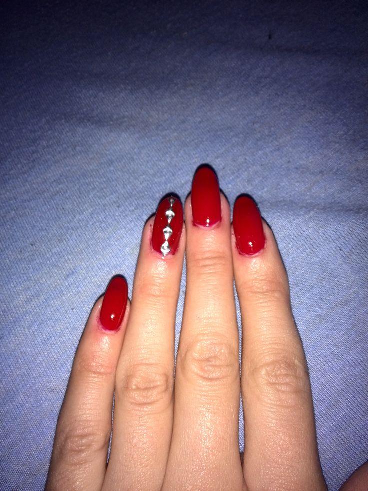Red nails #nails