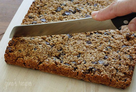 Low Fat Chewy Granola Bars with Pecans Raisins and Chocolate | Recipe