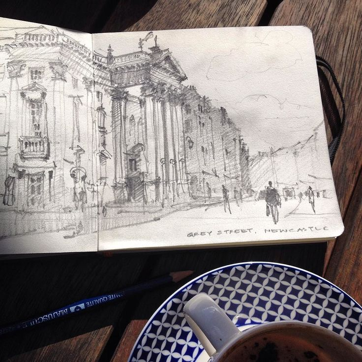 Newcastle's epic Theatre Royal built in 1937 by John and Benjamin Green. Ample sketching opportunities from the cafés opposite. #Newcastle #theatreroyal #greystreet #archisketcher #drawing #sketchbook