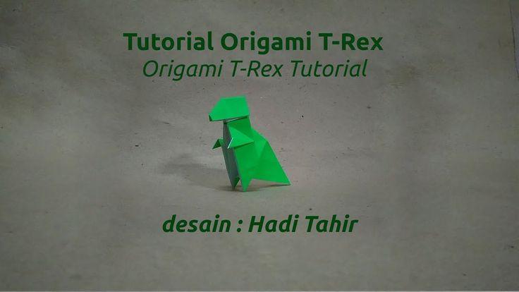 Tutorial Cara Membuat Origami Tyrannosaurus Rex/ How to Make Origami T-Rex