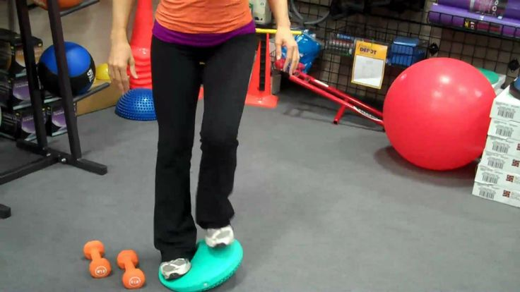 Balance Cushion - Sample Exercises by Lyzabeth Lopez for Fitness Depot (...