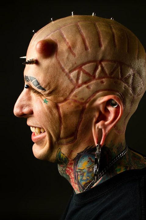 extreme body modifications This statista dossier on body modification in the united states provides, among  other information, figures and statistics on americans with tattoos or piercings,.