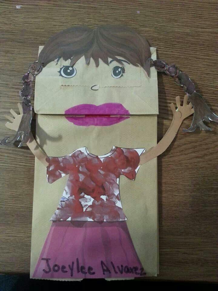 Marioneta de bolsa de papel