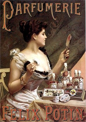 Advertisement for Parfumerie Felix Potin, 1900.