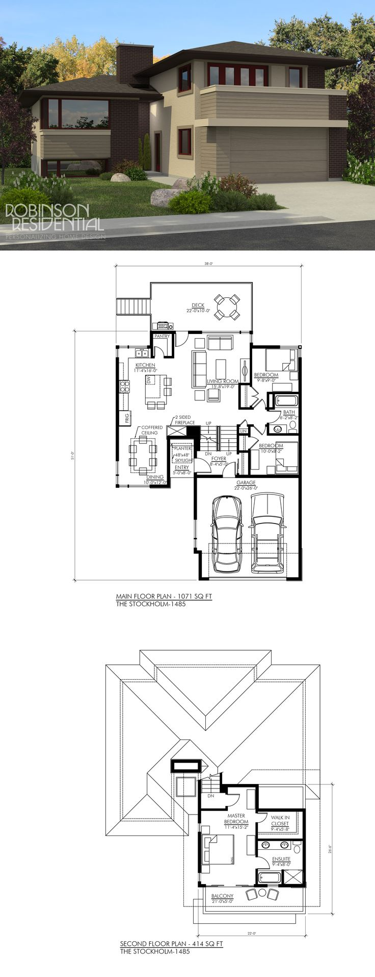 1485 sq ft 2 bedroom 2 baths