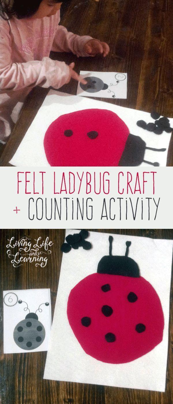 Felt Ladybug Craft