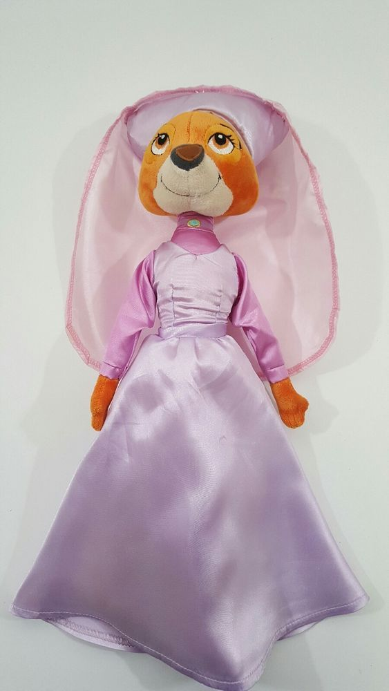 "16"" Disney Maid Marian Fox Plush Toy  Wearing Maid Dress From Robin Hood  