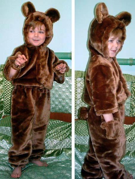 Как сшить костюм медведя