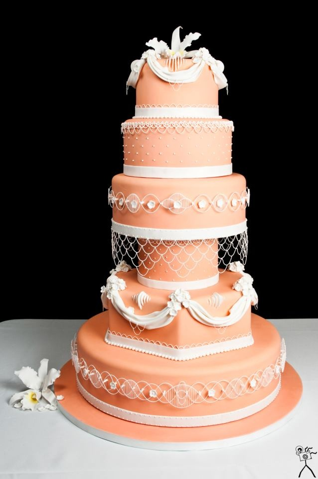 wedding cake orange indian weddings inspirations orange wedding cake 23347
