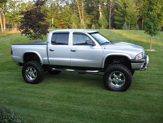 lifted Dodge Dakota. This is what mine will look like once she's reassembled with the lifts and tires :D