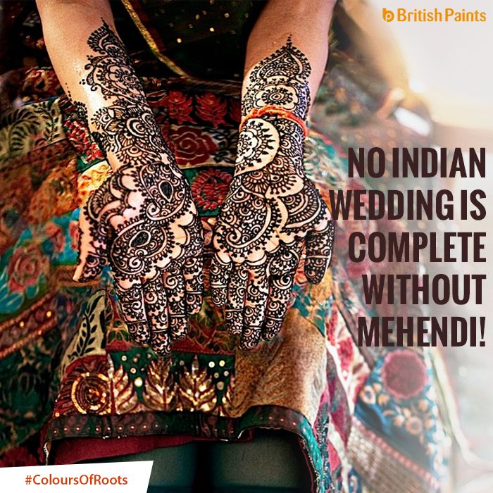 The deep red colour of Mehendi has a significant meaning - it symbolizes the love the bride will get at her new home! #ColoursOfRoots
