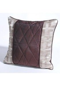 """Cushion Cover Quilt 16"""" X 16"""" Chocolate"""