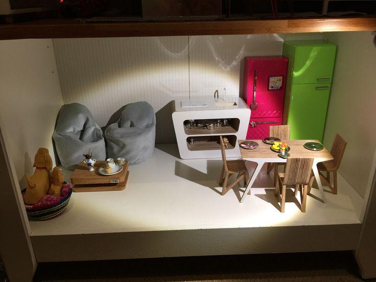 Barbie kitchen featuring Miniio and Boomini
