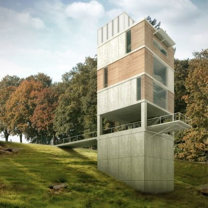 Best 25 tower house ideas on pinterest small wooden for Observation tower house plans