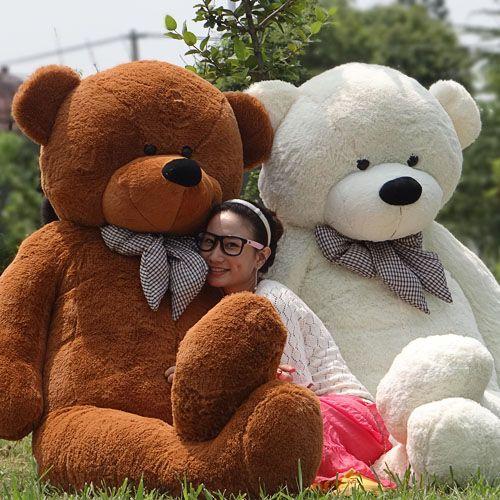 I Want The PINK one! Lovers plus size teddy bear 6.56 Feet (200cm) Giant TEDDY BEAR birthday gift big teddy bear retail and wholesale $50.00