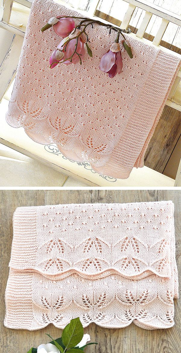 Knitting Pattern for Butterfly Kisses Baby Blanket - Lace ...
