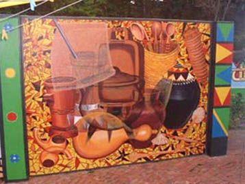 External mural opposite the kitchen: Lalelani Mbhele