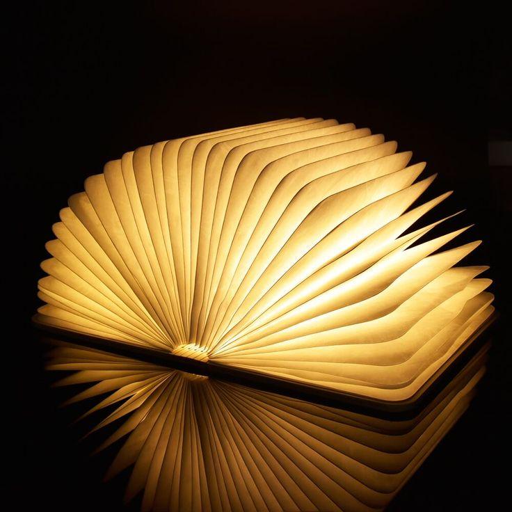 СВЕТОДИОДНЫЕ Складывая Книга Night Light USB Порт Аккумуляторная Деревянный Магнит крышка Творческий Главная Стол Декор Потолка Лампы RGB RGBWW WWW купить на AliExpress