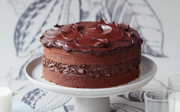 Diana Henry's classic chocolate layer cake recipe is filled with chocolate   butter cream and iced with a rich ganache