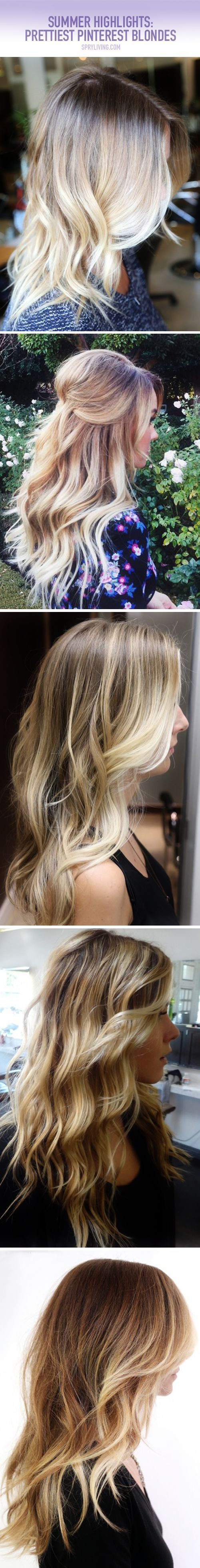 #sombre route. No root maintenance and a true time saver in the salon.   The 15 Prettiest Summer Highlights