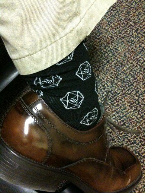 D20 Gamer Dice Socks