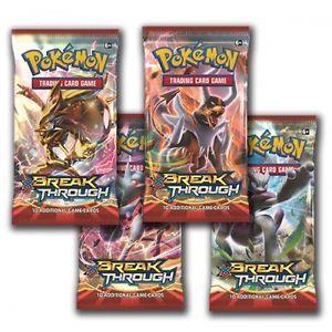 Pokemon, Jeu de cartes, paquet de 10 break through, 6+ ans. 8.99$ le paquet.  Disponible en boutique ou sur notre catalogue en ligne. Livraison rapide au Québec.  Achetez-le info@laboiteasurprisesdenicolas.ca