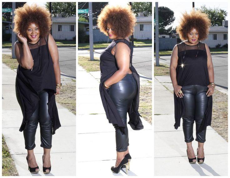 26 best Plus Size Leather Pants images on Pinterest | Plus size ...