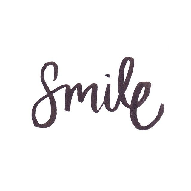 Smile hand lettering // by Jacqui Humble