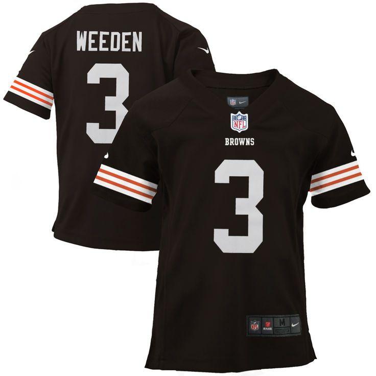 Brandon Weeden Cleveland Browns Historic Logo Nike Toddler Game Jersey - Brown - $13.99