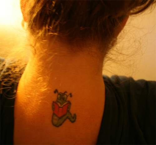 Bookworm tattoo...yes :)