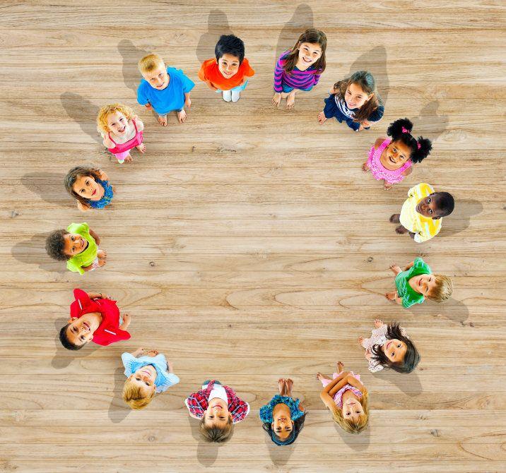 Viele Kindergärten veranstalten regelmäßig einen Morgenkreis. Dabei finden sich die Erzieherinnen und die Kinder zu einem Sitz- oder Stuhlkreis zusammen.