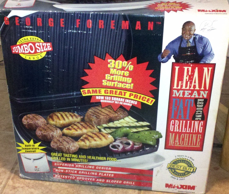 Quot Vintage Quot George Foreman Grill 133 Sq Inches New In Box
