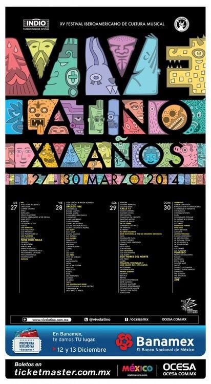 Horarios Festival Vive Latino 2014