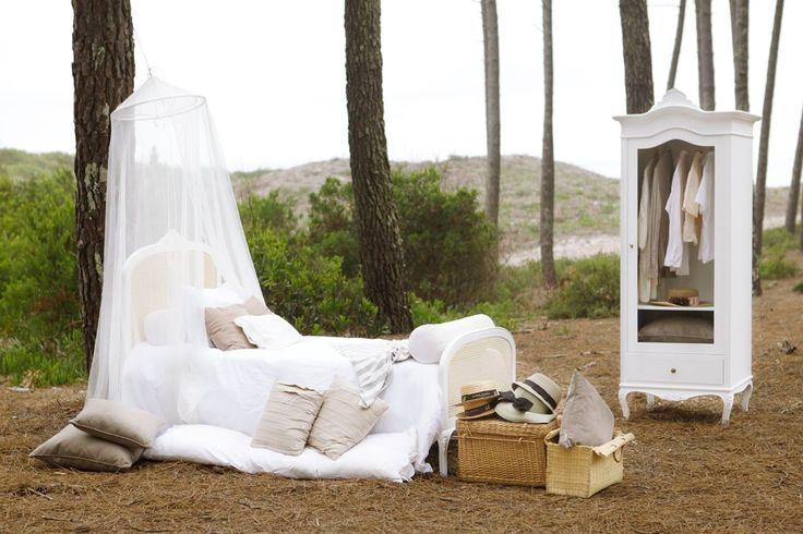 Get away from it all, even if it's inside your own bedroom! Antoinette Bed w/ rush