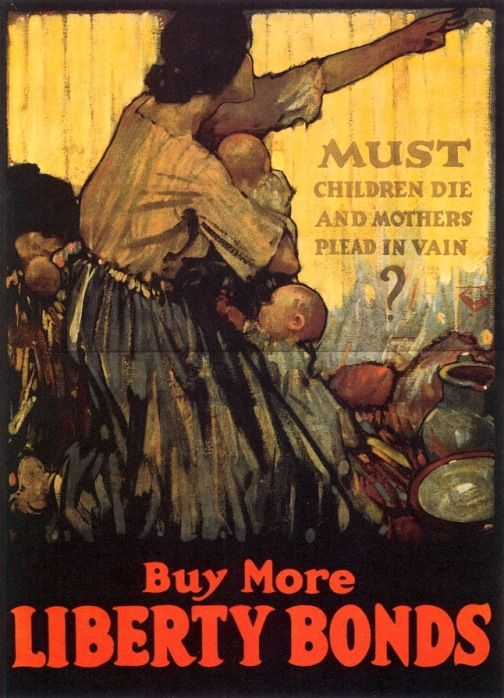 Raleigh, Henry Patrick (b,1880)- Must Children Die- Buy Bonds (Prop- US- WWI)