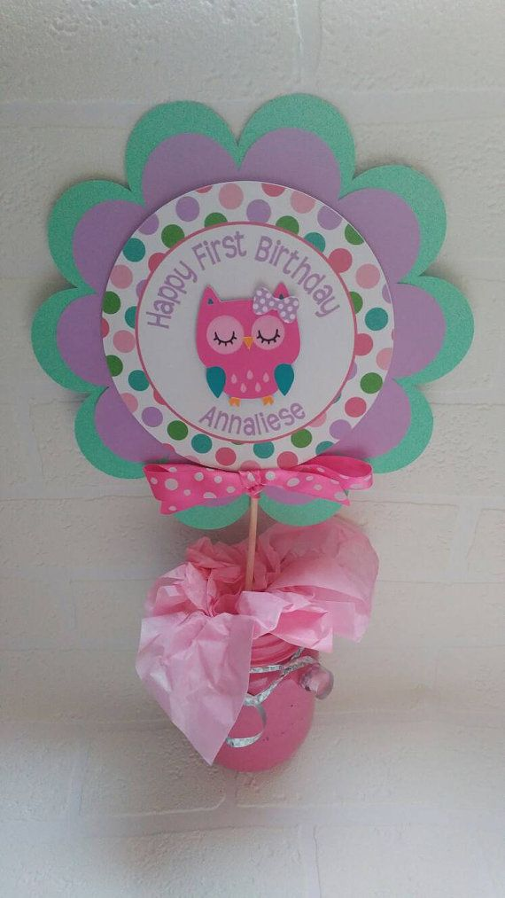 Check out this item in my Etsy shop https://www.etsy.com/listing/290403027/owl-centerpiece