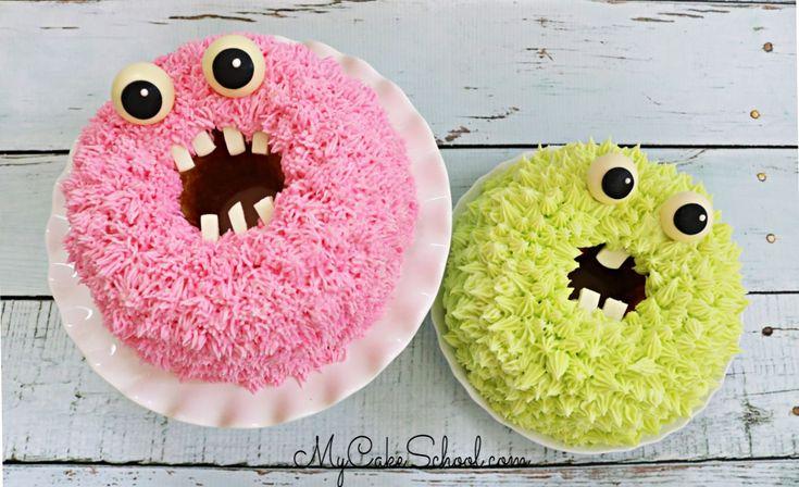 Monster Bundt Cakes – Ein kostenloses Kuchen-Tutorial!   – My Cake School