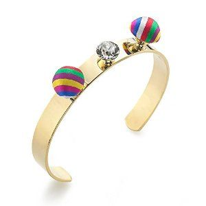 Amazon.com: VDN Silk and Crystal Bangle: Jewelry