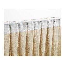 IKEA - KRONILL, Faltenband, Für dekorativen Faltenwurf an der Oberseite von Gardinen.Gardinen können auch direkt an einer Stange aufgehängt werden, da das Faltenband verdeckte Schlaufen hat.