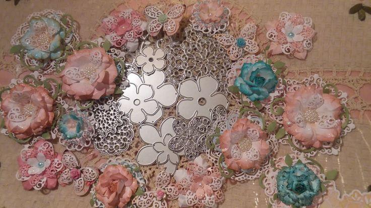 Making Shabby Chic Flowers/Butterflies Using Aliexpress/Ebay Dies + Proj...