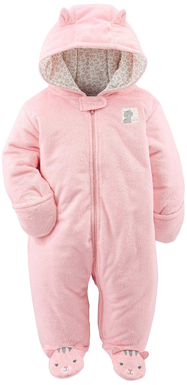 ec272fcdb Amazon.com: Simple Joys by Carter's Girls' Pink Kitty Pram: Clothing ...