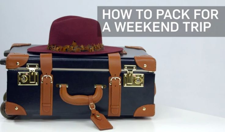 Here's how to pack for a weekend away without overpacking.