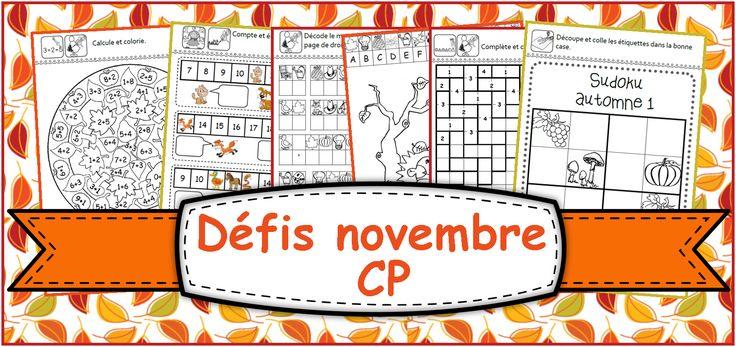 Voici les défi de novembre, nous allons travailler avec pour thème la pomme et le pommier et...