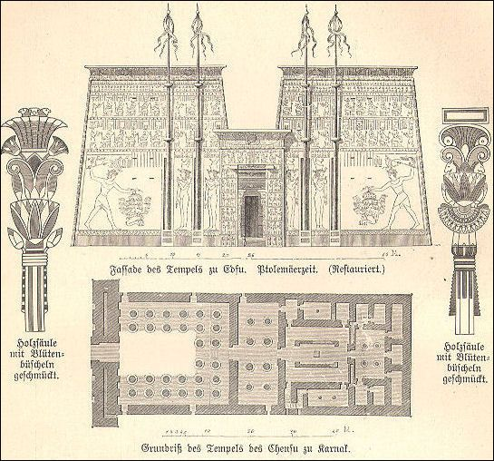 EDFU diagram and plan -| ANCIENT EGYPTIAN TEMPLES - World Topics | Facts and Details