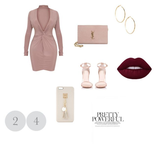 """Sin título #55"" by erica-castro-1 on Polyvore featuring moda, Yves Saint Laurent, GUESS by Marciano y Iphoria"