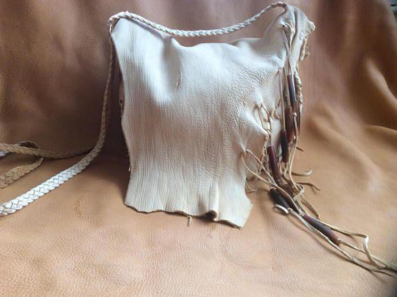 Leather Purse Handmade Deerskin Shoulder Bag Crossbody Bag