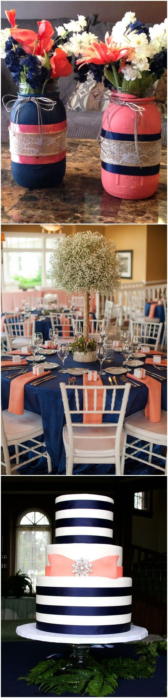 Wedding Ideas » 18 Peach and Navy Blue Inspired Wedding Ideas »   ❤️ See more:  http://www.weddinginclude.com/2017/05/peach-and-navy-blue-inspired-wedding-ideas/