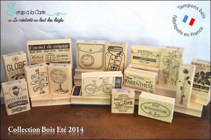 Scrap à la Carte: Collection Eté 2014 - 1ère collection de tampons caoutchouc montés bois 100% fabriqués en France !